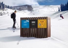 Davy turistů mohou na horách třídit odpady do speciálních třikošů