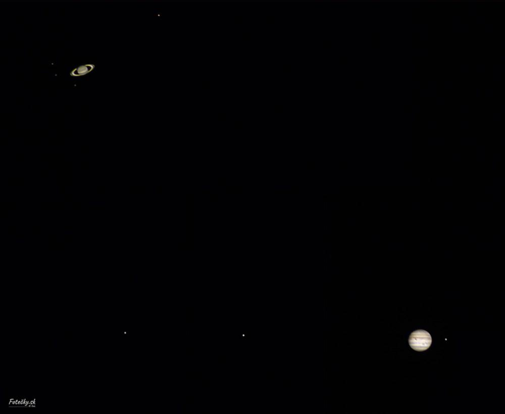 Vítězná fotografie je zachycením mimořádné prosincové konjunkce planet Jupiter a Saturn.