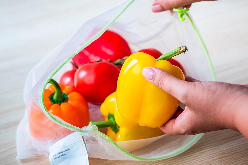 Ovosáček - alternativa k mikrotenovým pytlíkům, které se používají například na ovoce a zeleninu.
