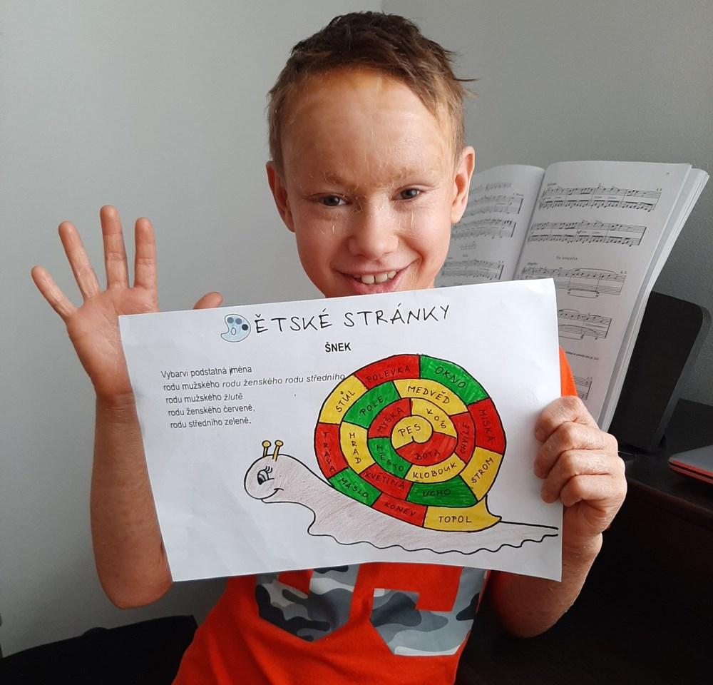 Popis: Devítiletý Lukášek z Vojkovic, který se potýká s vážným onemocněním kůže - lamelární ichtyózou.