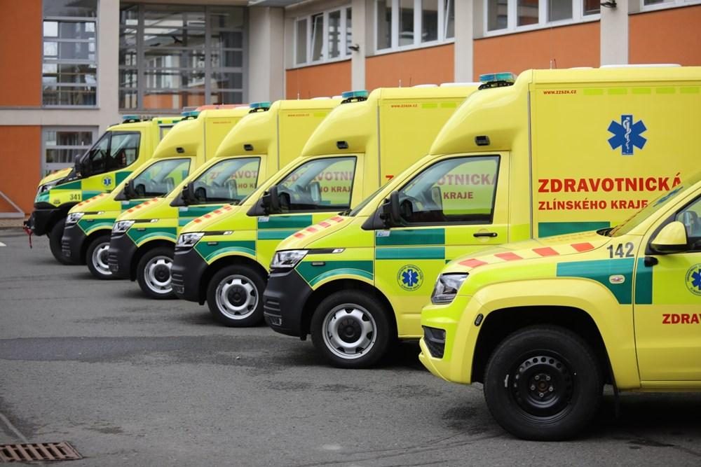 Nové vozy Zdravotnické záchranné služby Zlínského kraje.