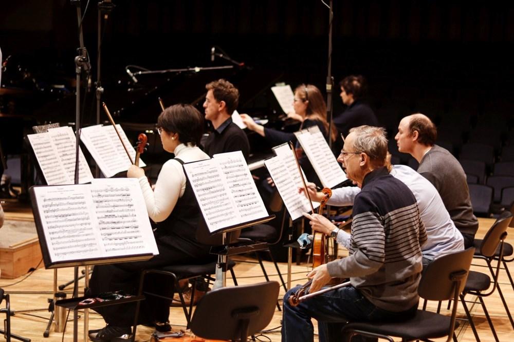 Nahrávání CD Bach 18. prosince 2020.