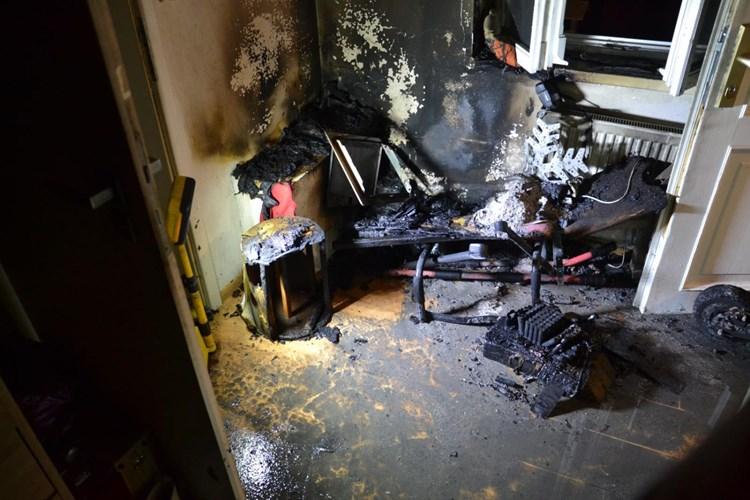 Požár bytu v Liberci
