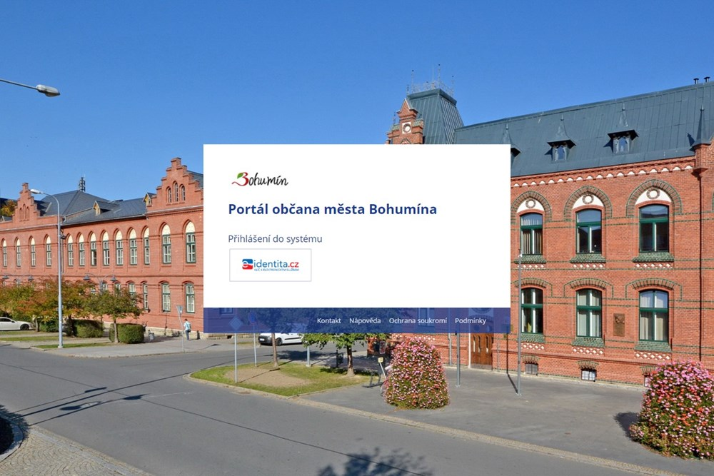 Úvodní strana Portálu občana města Bohumína