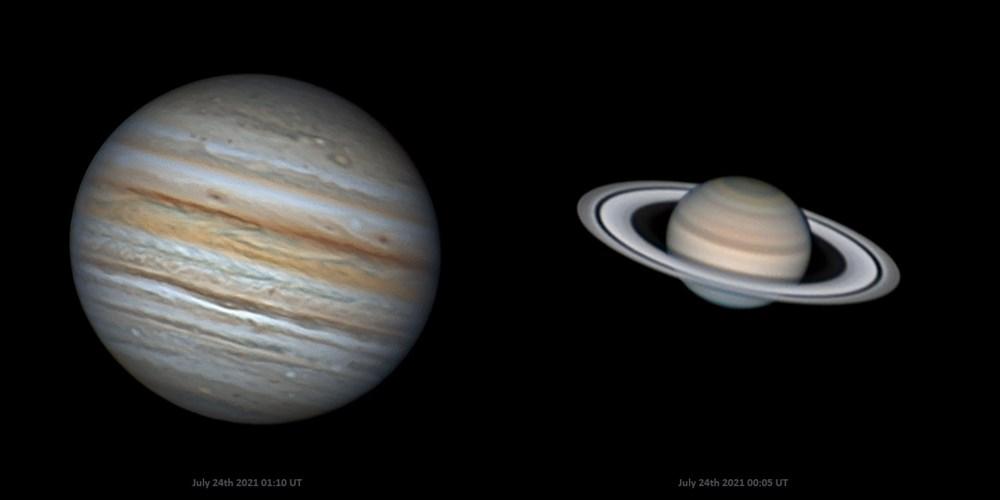 Jupiter a Saturn.