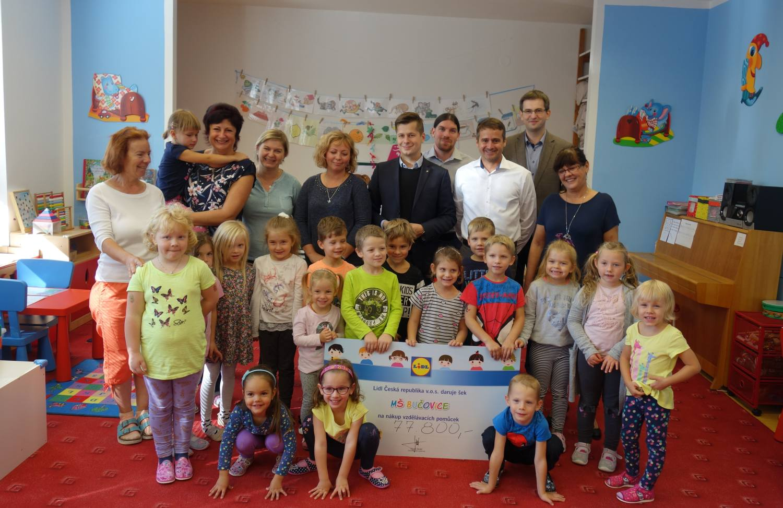 Mateřská škola Bučovice získala od Lidlu 77 800 korun