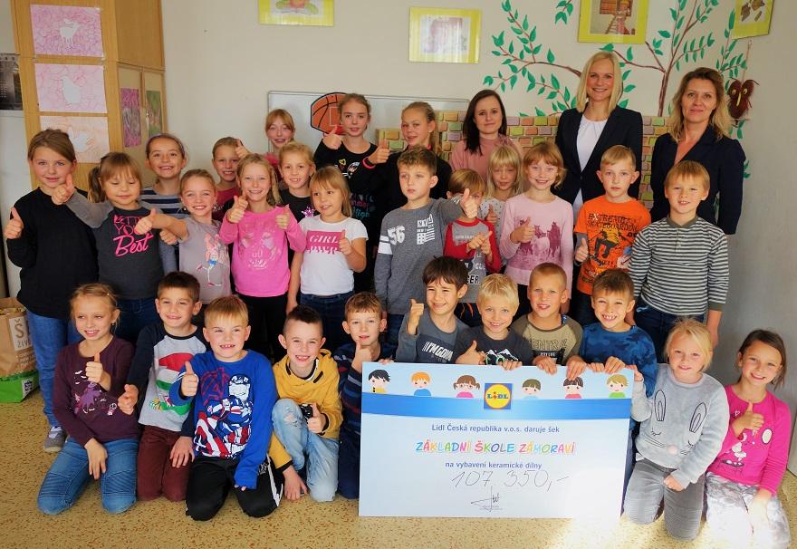 ZŠ Zámoraví v Kroměříži získala od Lidlu 107 350 korun
