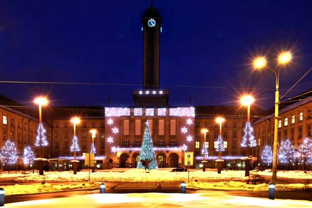 Popis: Věž Nové radnice v centru Ostravy.