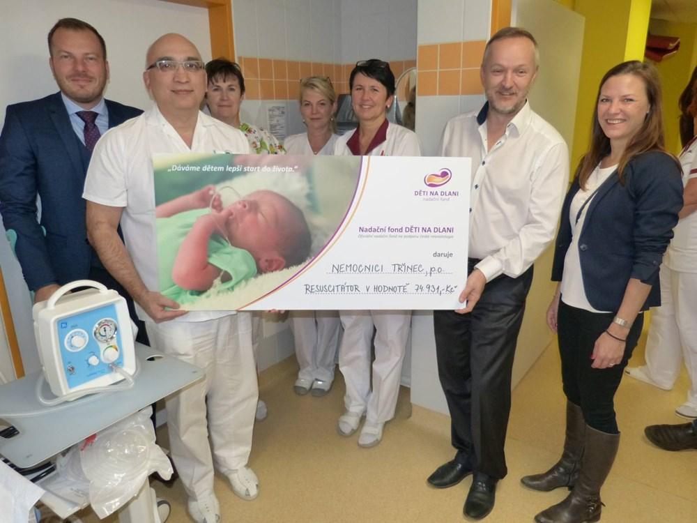 Popis: Nový resuscitační přístroj pro předčasně narozené děti