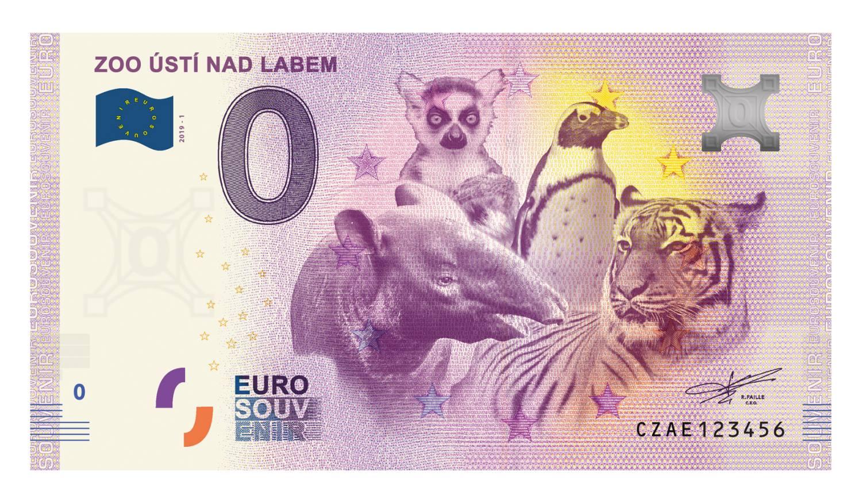 Zoologická zahrada Ústí nad Labem vydává originální suvenýrovou eurobankovku