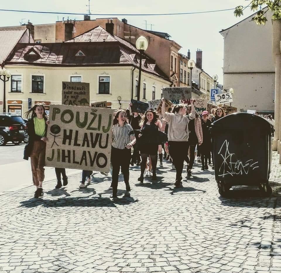 Jihlavští studenti stávkovali za klima