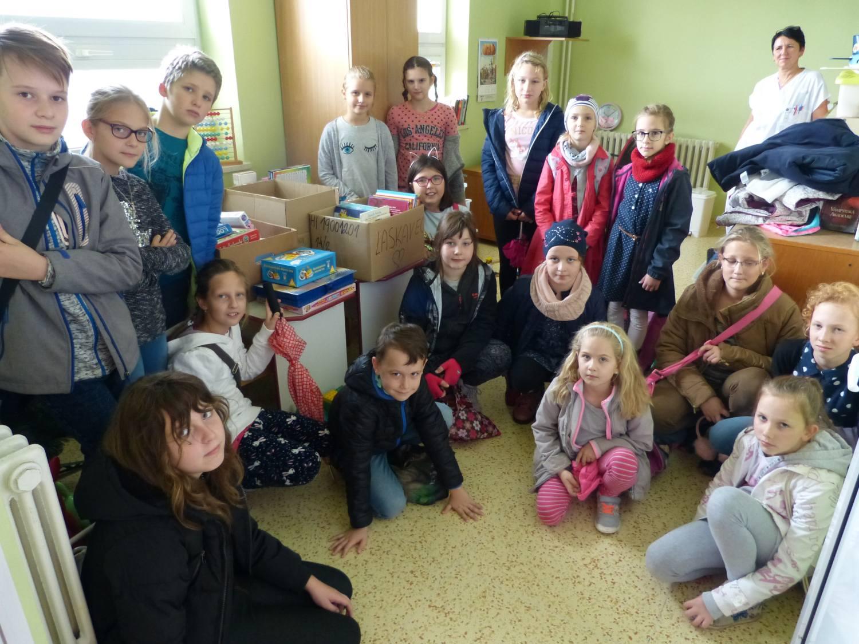 Žáci z Návsí podpořili dobrým skutkem děti v třinecké nemocnici
