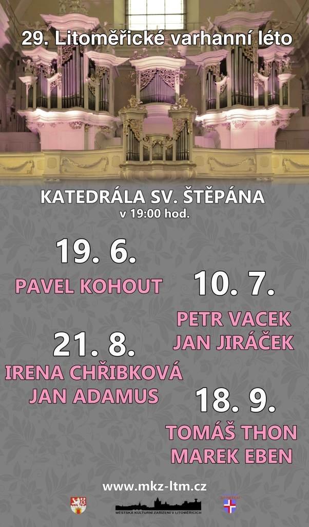 Litoměřické varhanní léto rozezní katedrálu sv. Štěpána