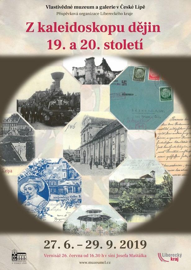Popis: Plakát na výstavu Zkaleidoskopu dějin 19. a 20. století