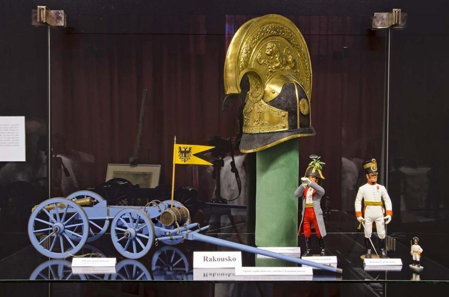 Popis: Výstava Napoleonika v děčínském muzeu.