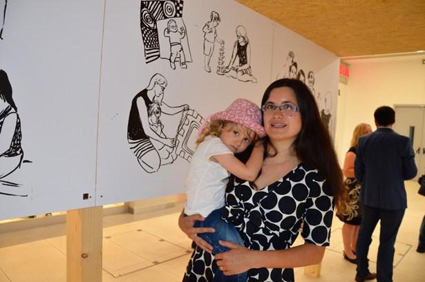 Popis: Ilustrátorka Barbora Matulová s dcerou Ladou.