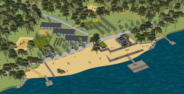 Pláž Ostende u Boleveckého rybníka se rozšíří, přibydou pobytové louky