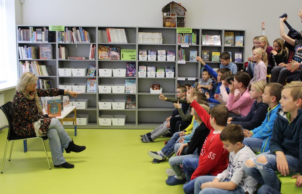Setkávání se spisovateli v knihovně pro děti a mládež
