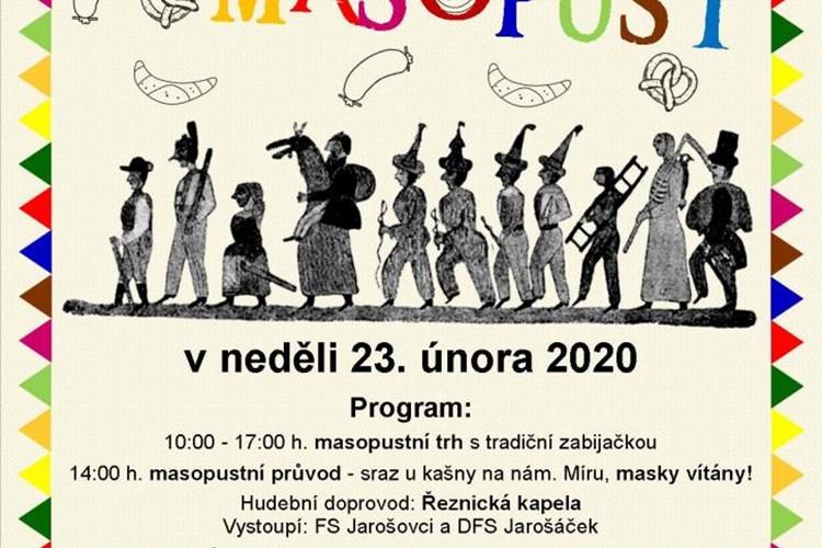 Neděle 23. února bude v Mělníku patřit tradičnímu masopustnímu průvodu
