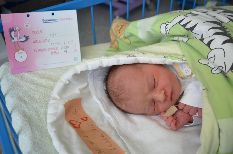 Lily je prvním miminkem roku 2020 narozeným v krnovské porodnici