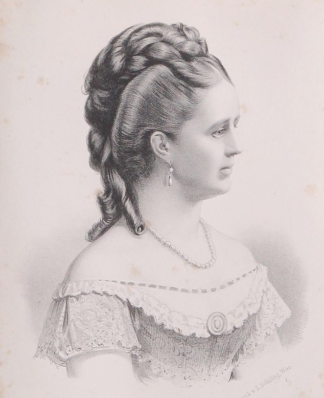 Popis: Princezna Bathildis z Anhalt-Dessau.