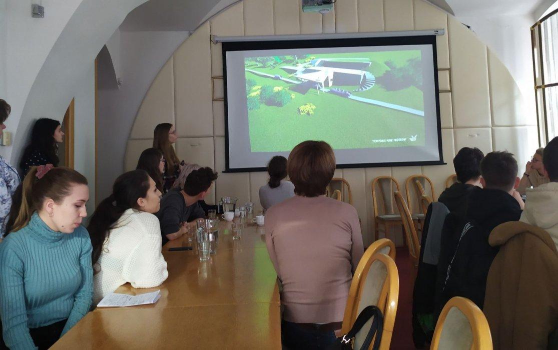Studenti z Polska představili v Jeseníku své vize