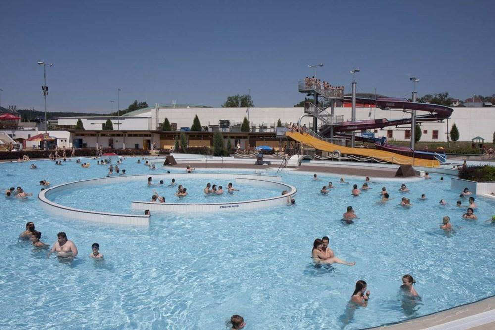 Aquapark Vodní ráj v Jihlavě.