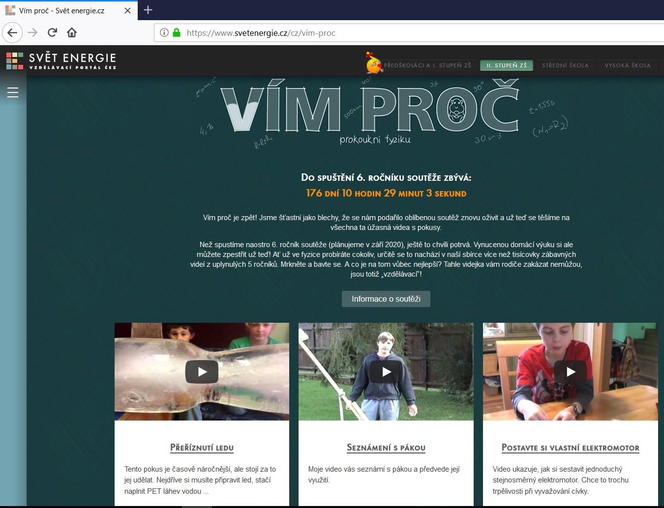 ČEZ pomůže dětem s fyzikou: zpřístupnil tisíc videí s pokusy a chystá soutěž o 200 000 korun