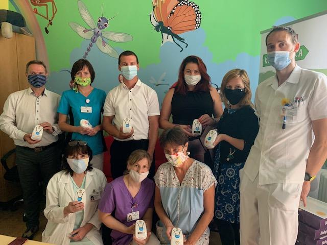 Miminka v havlíčkobrodské nemocnici hlídá 30 nových monitorů dechu