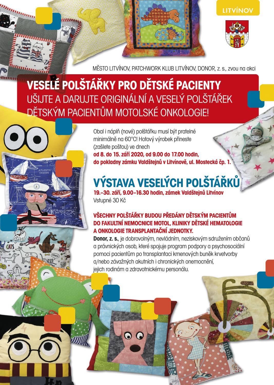Ušijte a darujte originální a veselý polštářekdětským pacientům motolské onkologie!