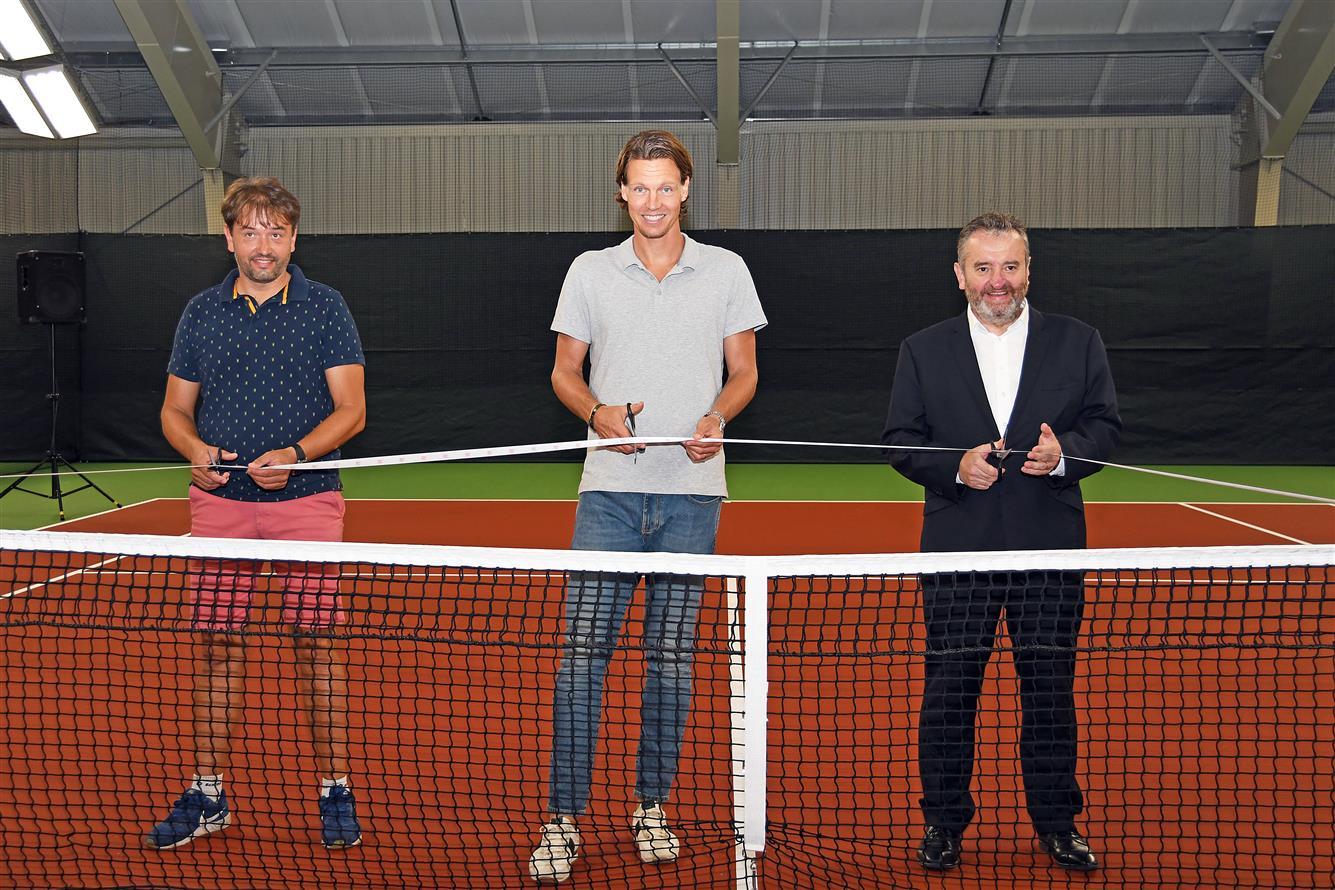 Tomáš Berdych otevřel novou tenisovou halu